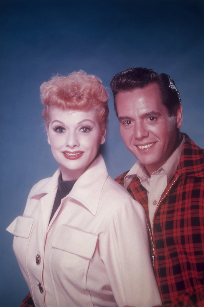 Lucille Ball and Desi Arnaz  1954       : Stock Photo