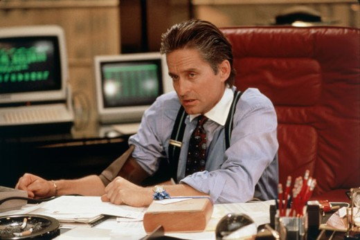 Michael Douglas as Gordon Gekko, Wall Street, 1987 : Stock Photo