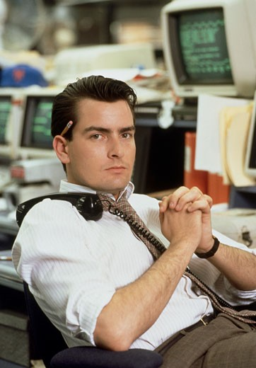 Stock Photo: 253-133 Charlie Sheen, Wall Street, 1987