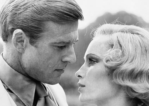 Stock Photo: 253-220 Mia Farrow and Robert Redford, The Great Gatsby, 1974