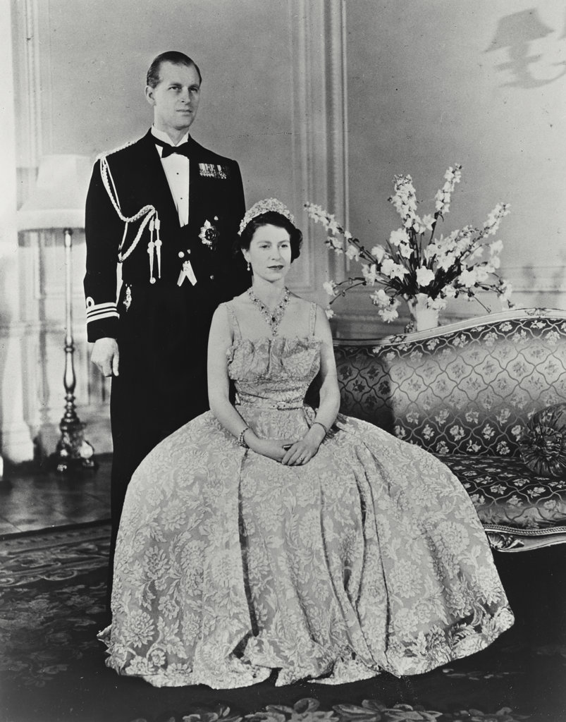 Stock Photo: 255-14152 Princess Elizabeth and The Duke of Edinburgh at Clarence House, London, England