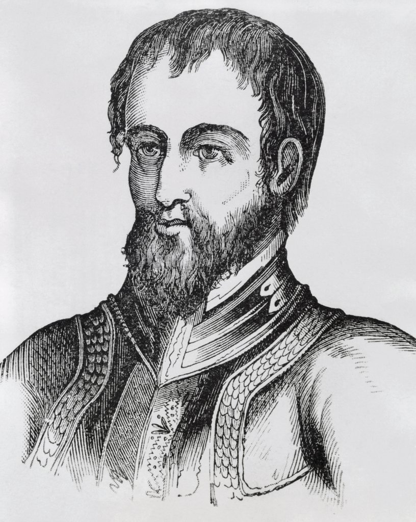 Stock Photo: 255-14488 Hernando de Soto (1492-1542) 