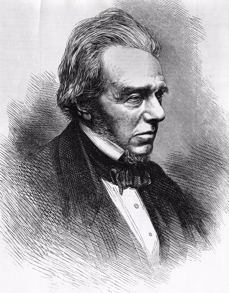 Michael Faraday (1791-1867)  English Scientist  World History : Stock Photo
