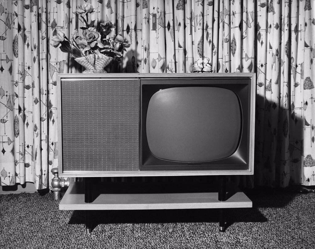 Stock Photo: 255-1614 Close-up of a television