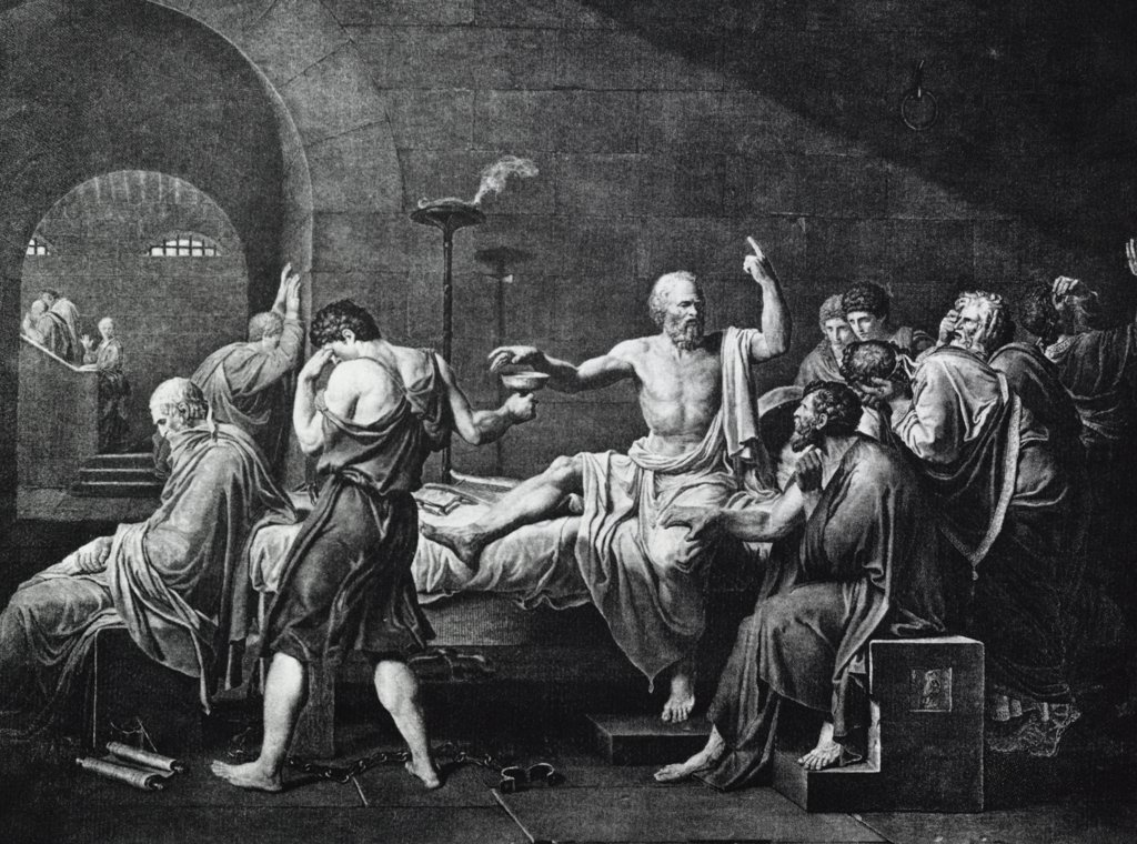 Stock Photo: 255-17377 Death of Socrates Jacques Louis David (1748-1825 French)