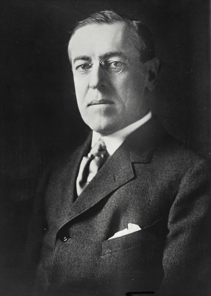 Stock Photo: 255-19567 Woodrow Wilson, (1856-1924), 28th President of the United States