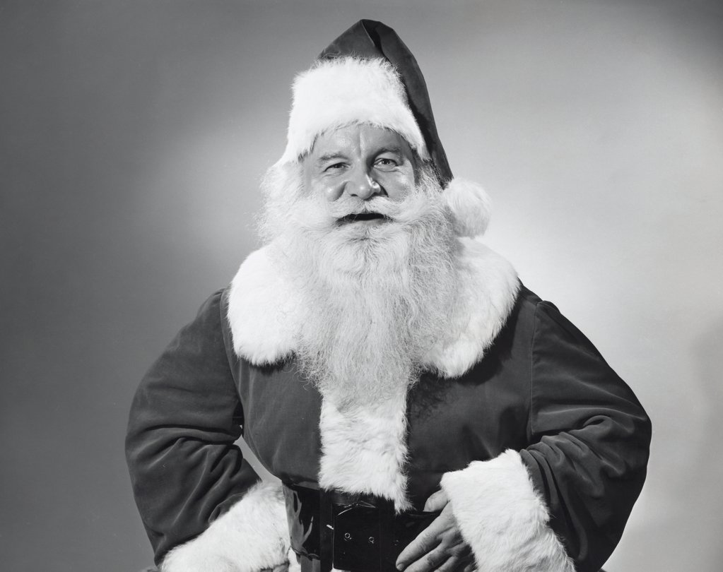 Stock Photo: 255-23860 Portrait of Santa Claus smiling