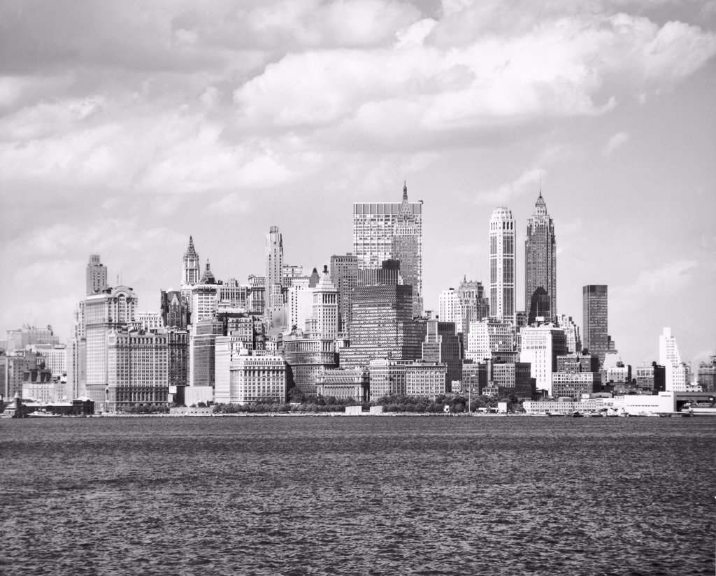 Stock Photo: 255-25401 Skyscrapers on the waterfront, Manhattan, New York City, New York, USA