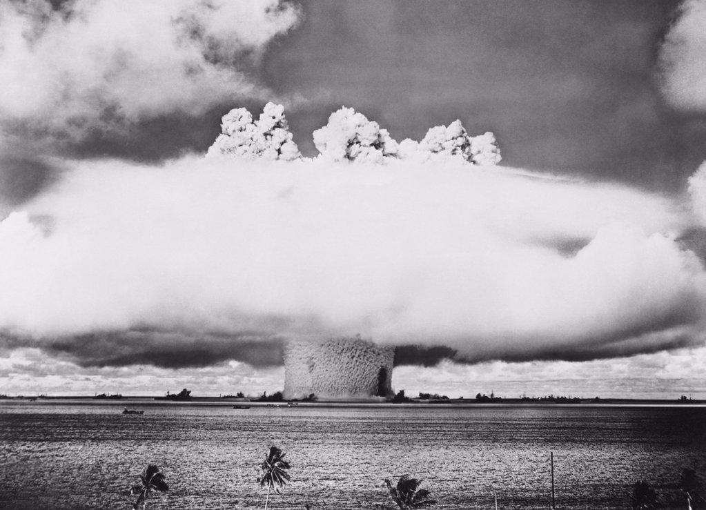 Stock Photo: 255-28444 Atomic bomb explosion