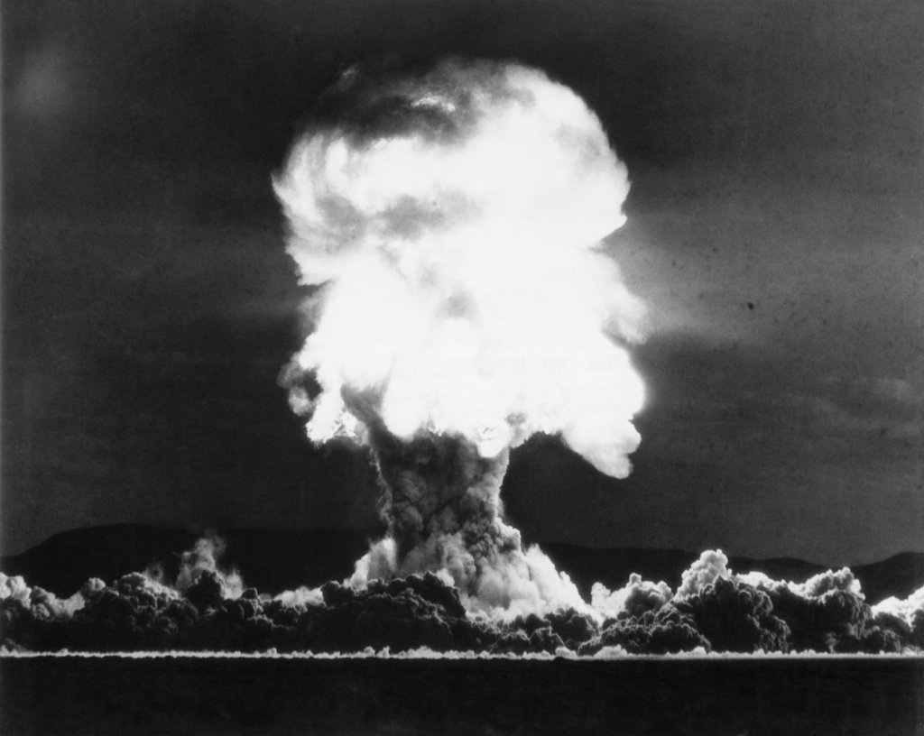 Owens Nuclear Test Detonation, Nevada Test Site, Nevada, USA, July 15, 1957 : Stock Photo