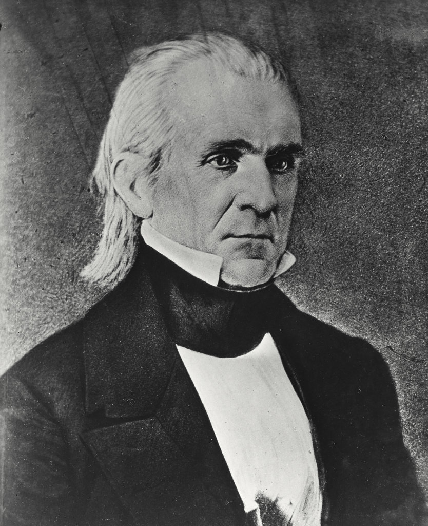 Stock Photo: 255-28710 James Polk 11th President of the United States (1795-1849)