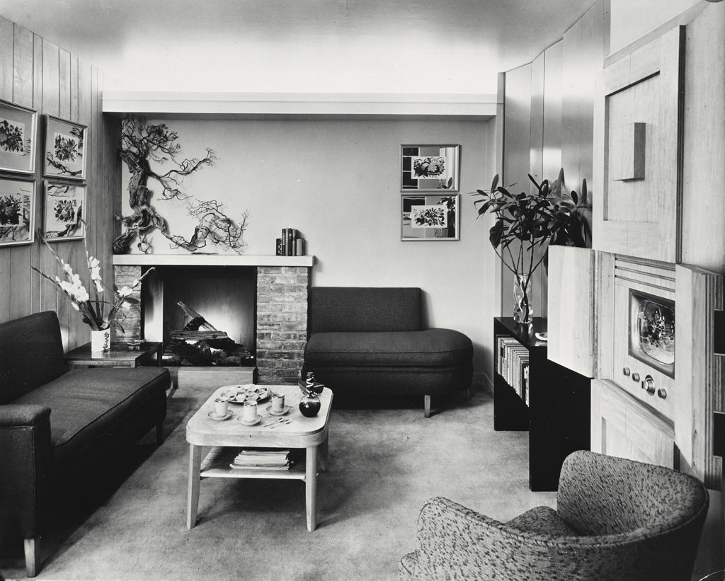 Interior of living room 1950s style stock photo 255 29351 for Living room 4x5