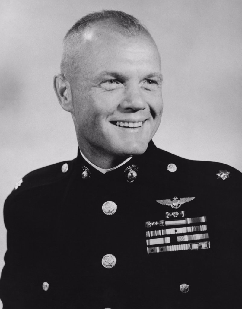Stock Photo: 255-29428 Lieutenant Colonel John Herschel Glenn Jr., USMC
