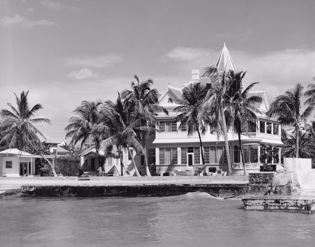 Stock Photo: 255-32447 Building on the waterfront, Key West, Florida, USA
