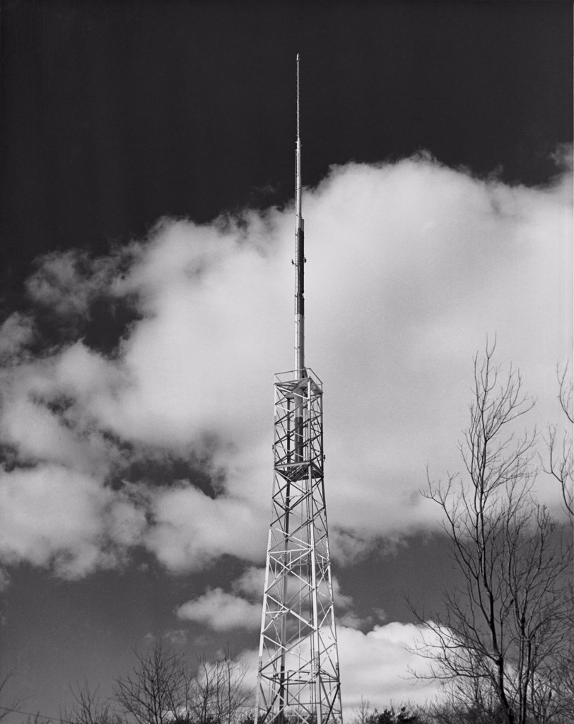 Stock Photo: 255-33637 Low angle view of a FM tower for radio and television
