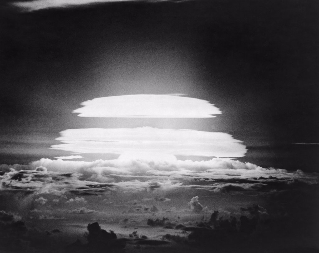Stock Photo: 255-36934 Nuclear test detonation, Bikini Atoll, Marshall Islands