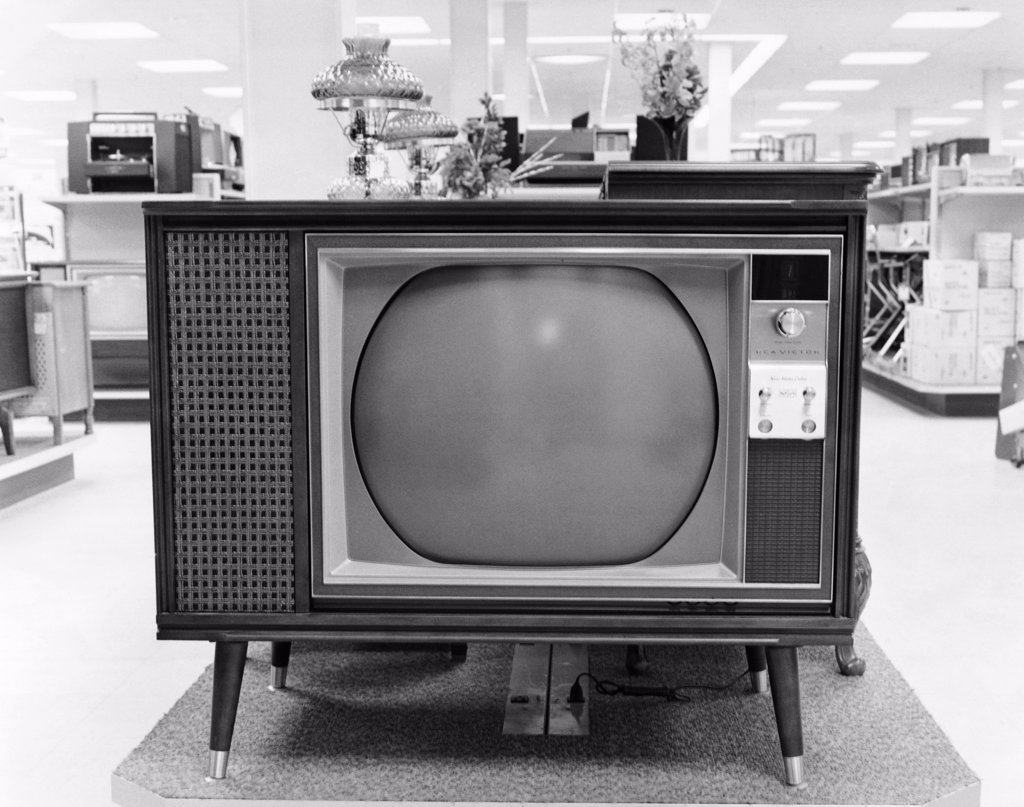 Stock Photo: 255-393 Close-up of a television in a store