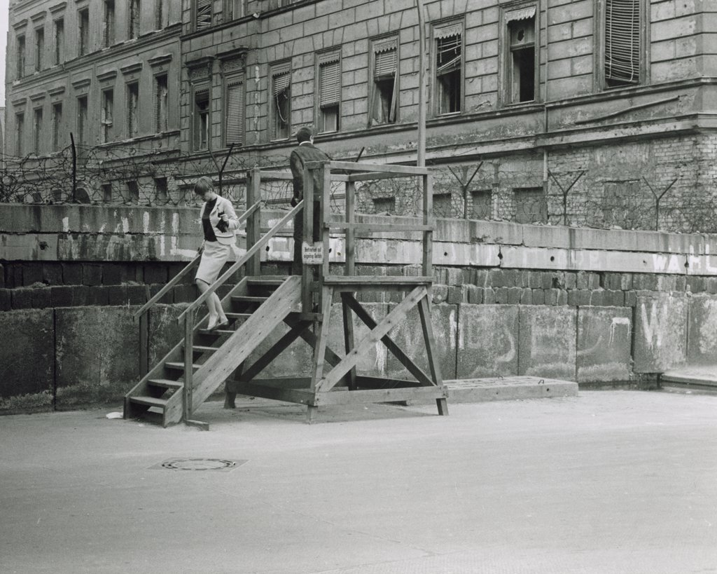 Germany,  Berlin,  Berlin Wall in 1960s, : Stock Photo