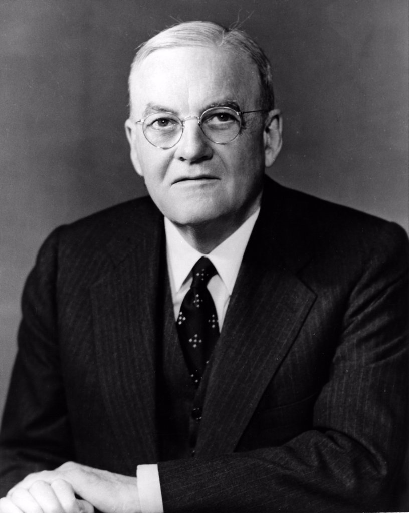 Portrait of John Foster Dulles, Secretary of State, USA 1953-1959 : Stock Photo
