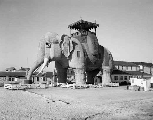 USA, New Jersey, Margate City, Lucy the Elephant National Historic Landmark : Stock Photo