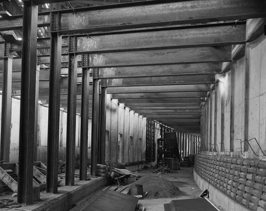 Stock Photo: 255-418543 USA, New York State, New York City, subway construction