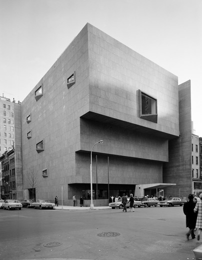 USA, New York City, New Whitney Museum building designed by Marcel Breuer : Stock Photo