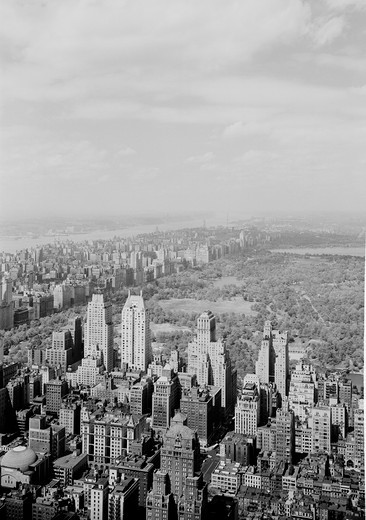 USA, New York State, New York City, Roof view looking Northwest from Radio City with Central Park and Upper Manhattan : Stock Photo