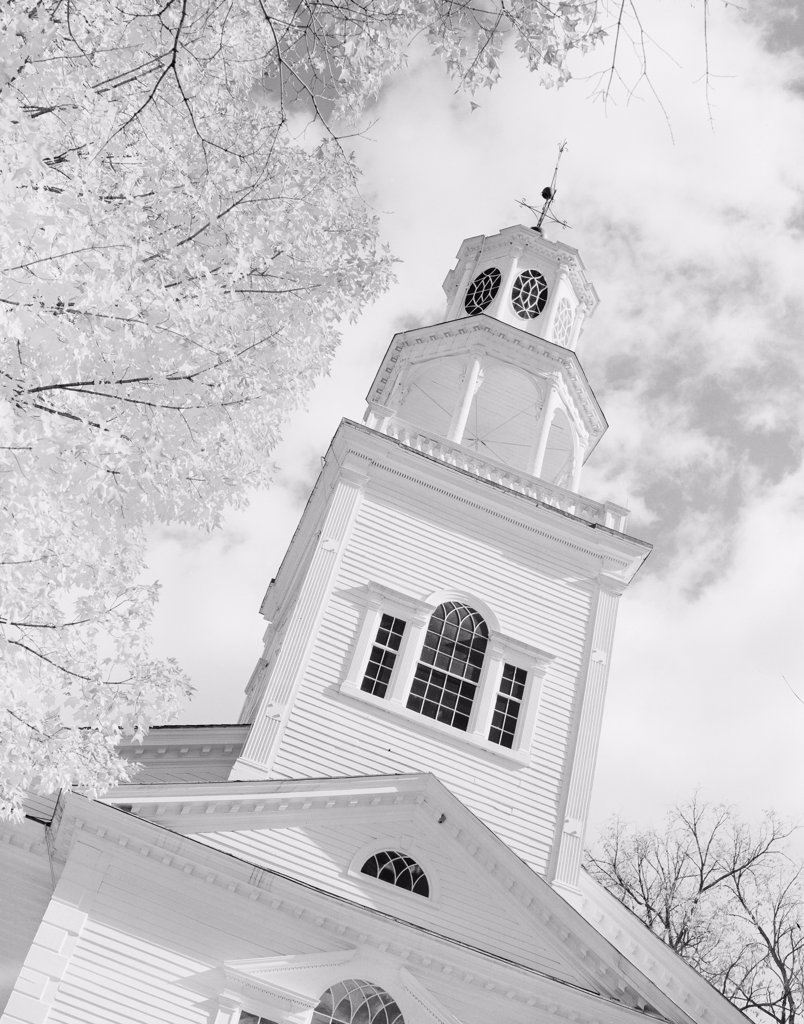 Stock Photo: 255-420387 USA, Vermont, Bennington, First Church