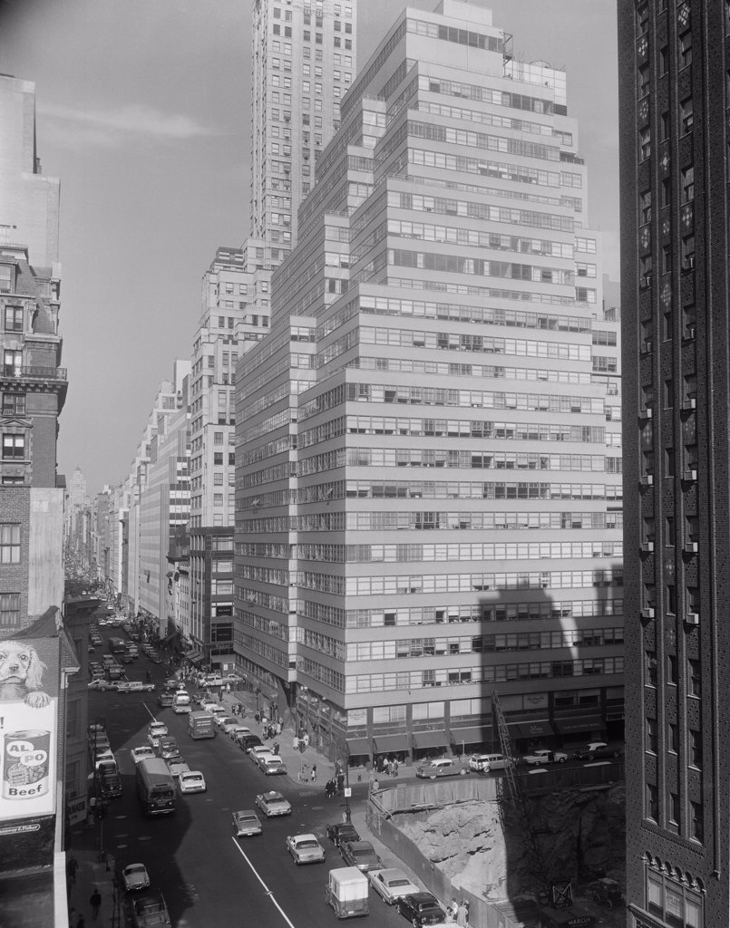 Stock Photo: 255-420443 USA, New York, Manhattan, Madison Avenue looking North from 56th Street