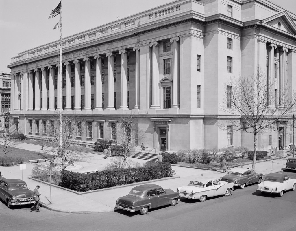 USA, New Jersey, Newark, Post Office : Stock Photo