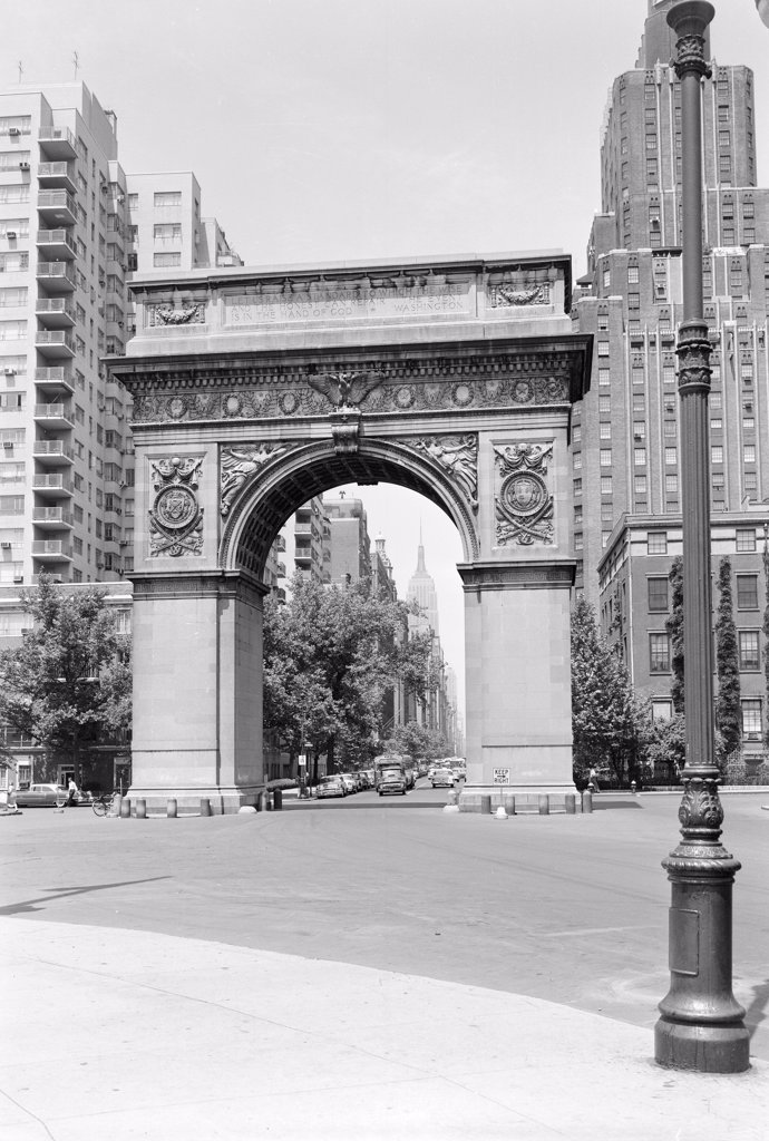 USA, New York State, New York City, Washington Arch : Stock Photo