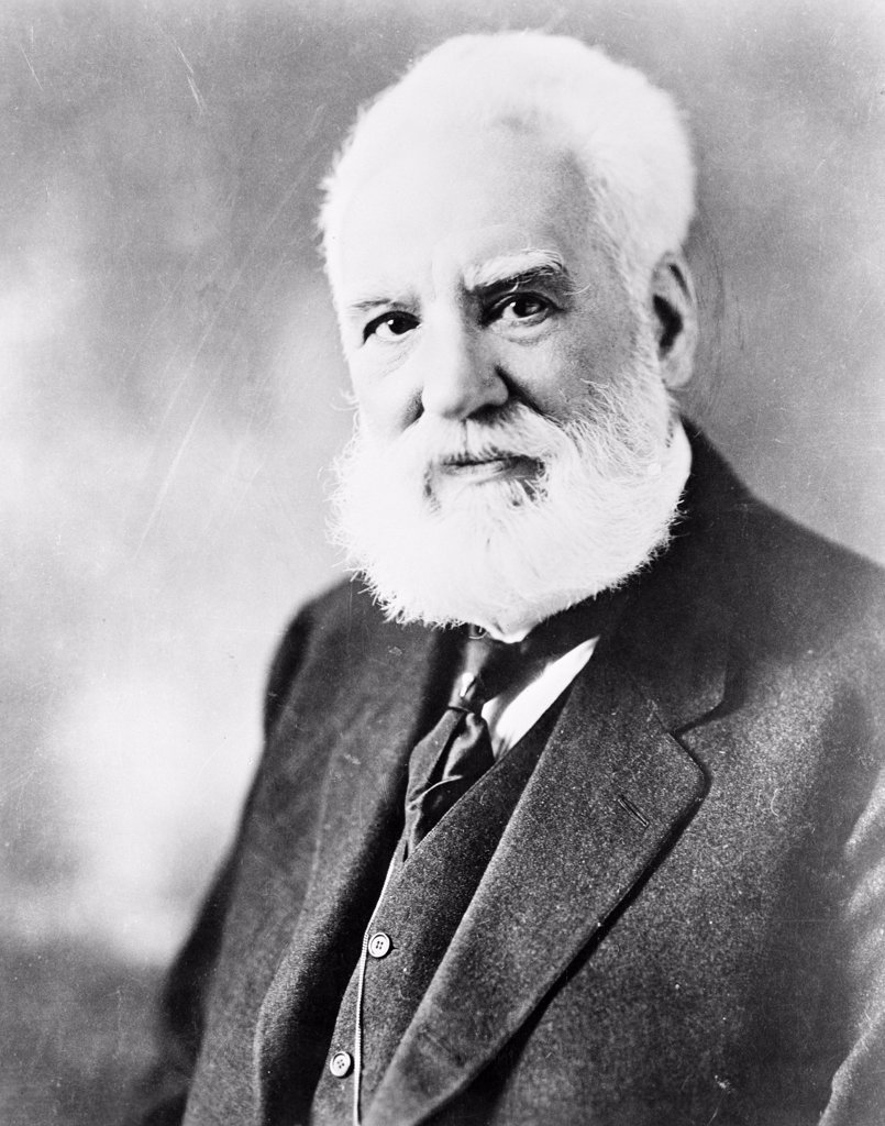 Stock Photo: 255-423125 Alexander Graham Bell in 1918, portrait