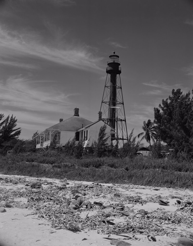 Stock Photo: 255-423189 USA, Florida, Sanibel Island, Lighthouse