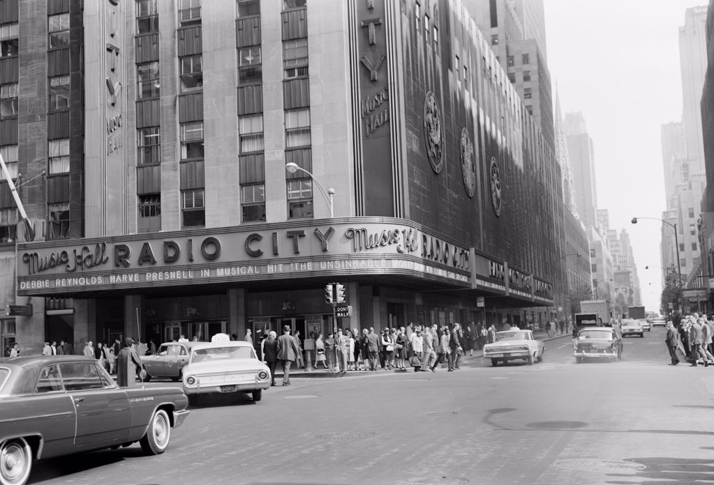 Stock Photo: 255-424353 USA, New York City, Radio City Music Hall