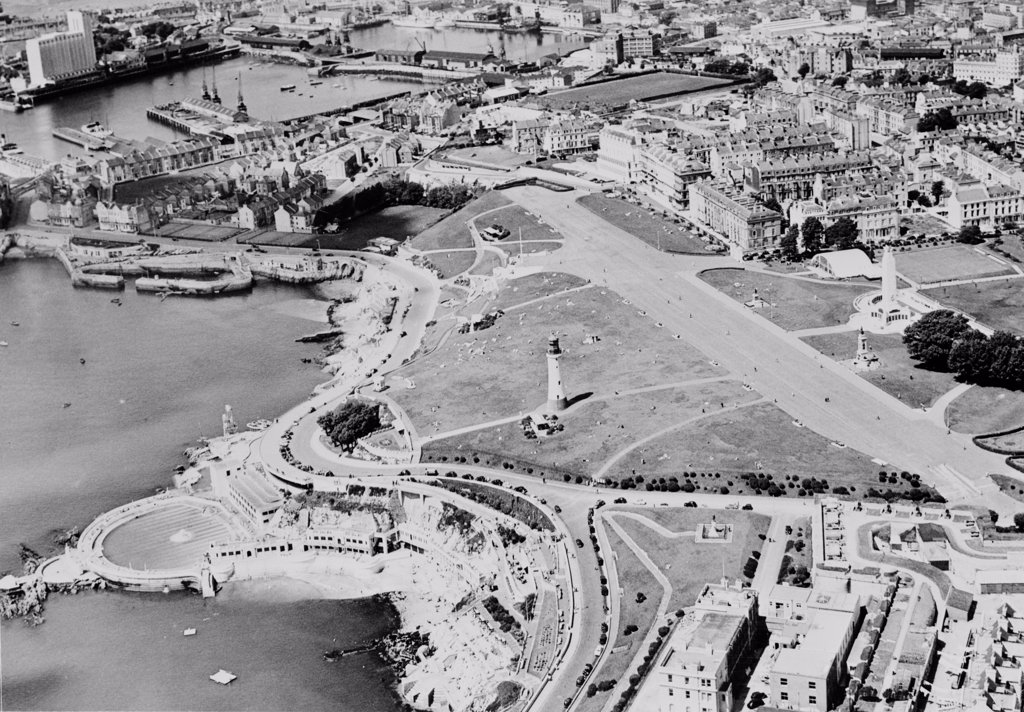 Stock Photo: 255-424638 UK, England, Plymouth, aerial view