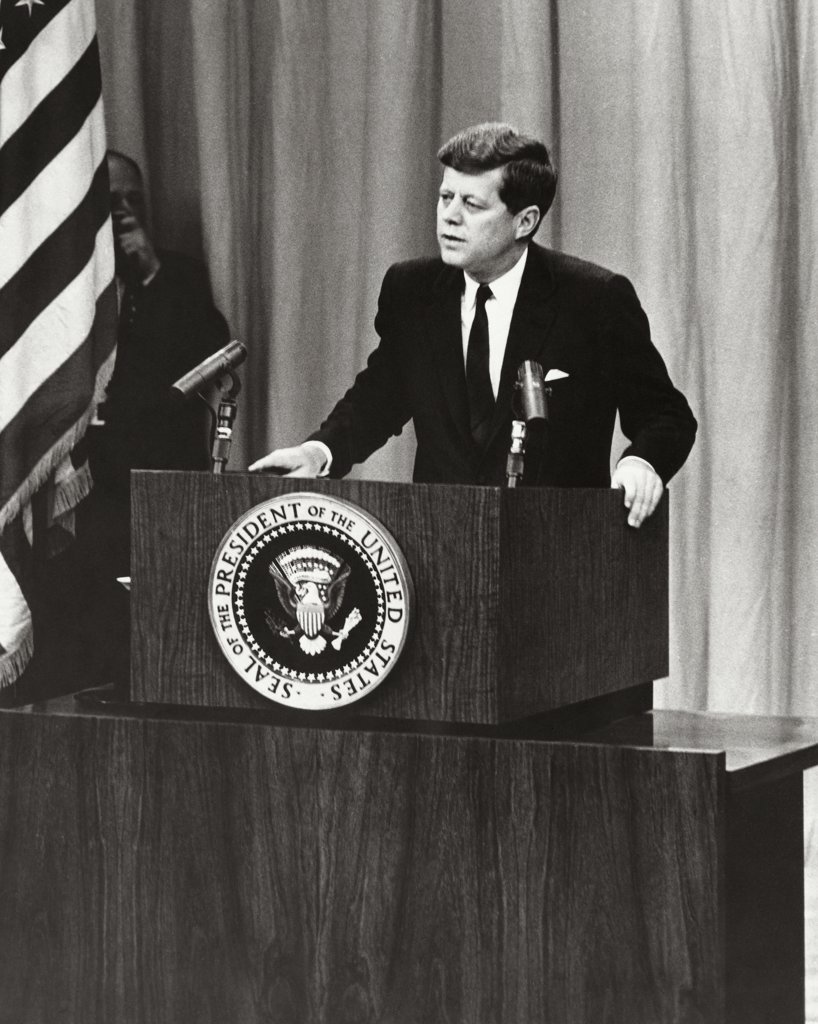 John F. Kennedy, 1917-1963, 35th President of the United States : Stock Photo