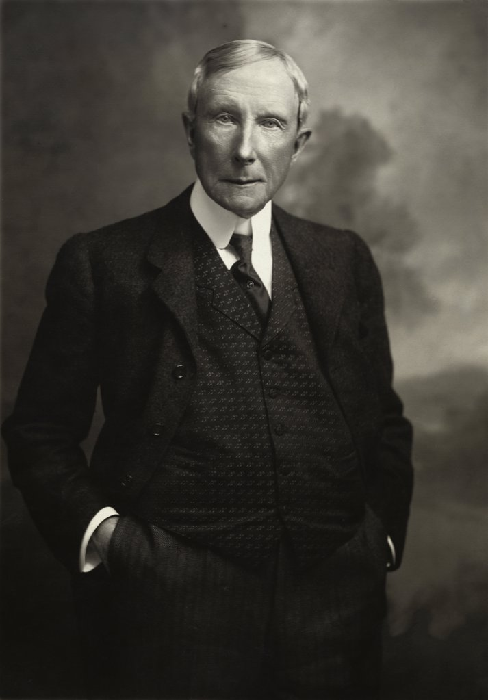 Stock Photo: 255-4262 John D. Rockefeller, 1839-1937, American Industrialist