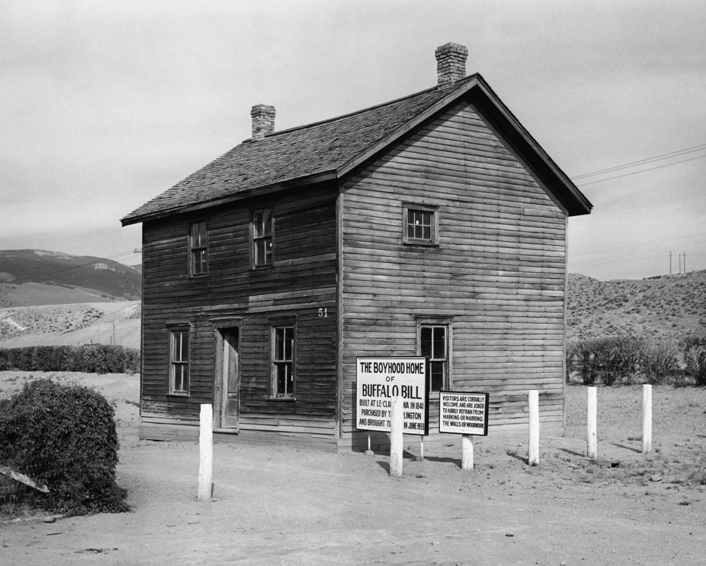 Stock Photo: 255-44855 Boyhood home of Buffalo Bill, Wyoming, USA