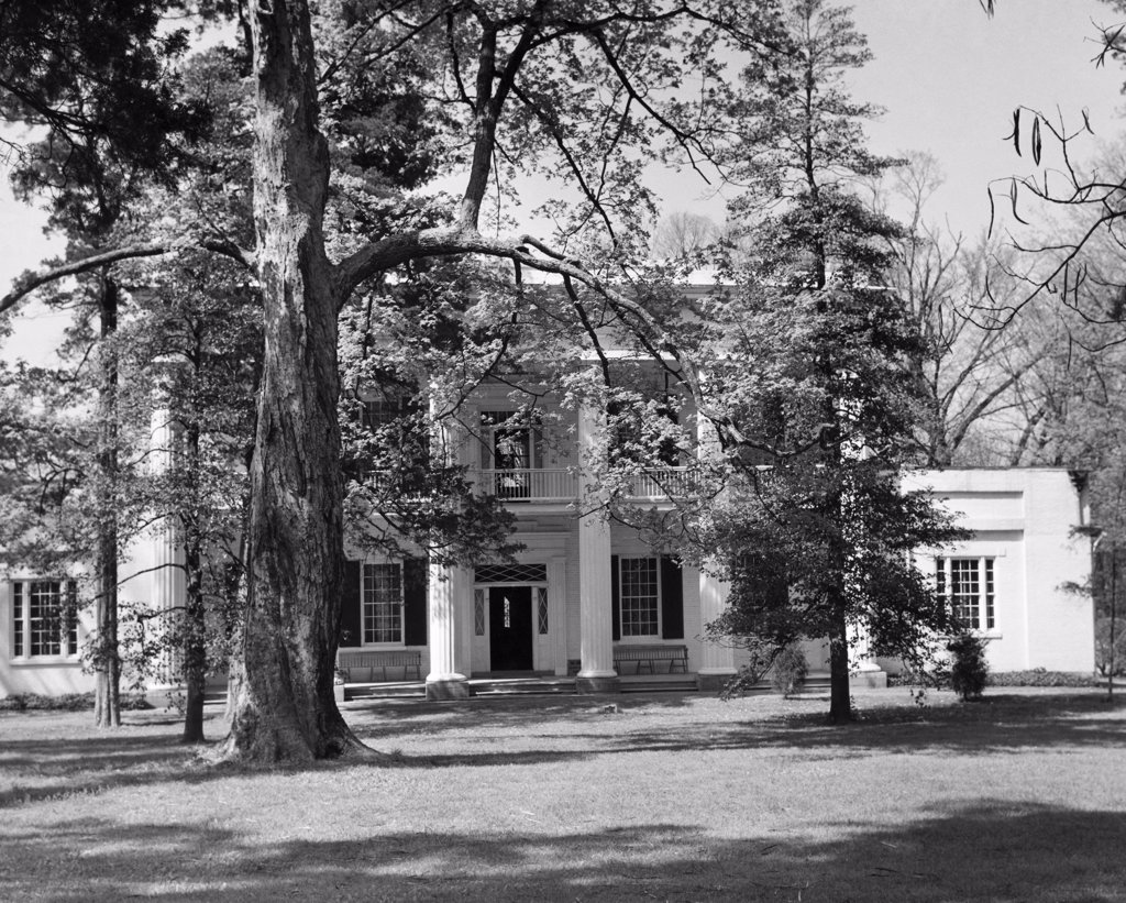 Stock Photo: 255-44912 Facade of the Hermitage, Home of US President Andrew Jackson, Nashville, Tennessee, USA