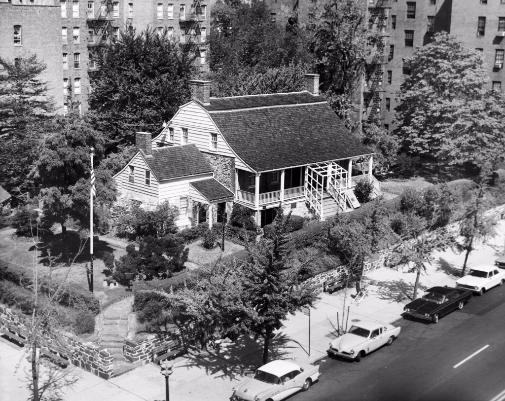 Stock Photo: 255-44979 High angle view of a house, Dyckman House, Manhattan, New York City, New York State, USA