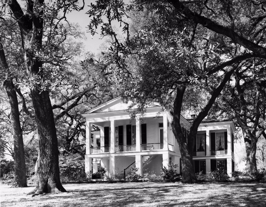 Stock Photo: 255-44990 USA, Alabama, Mobile, Oakleigh House Museum