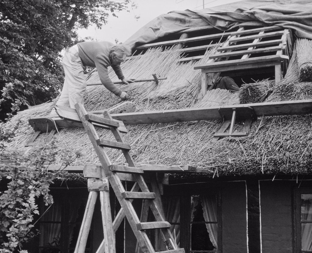 Stock Photo: 255-47123 Roof Thatching