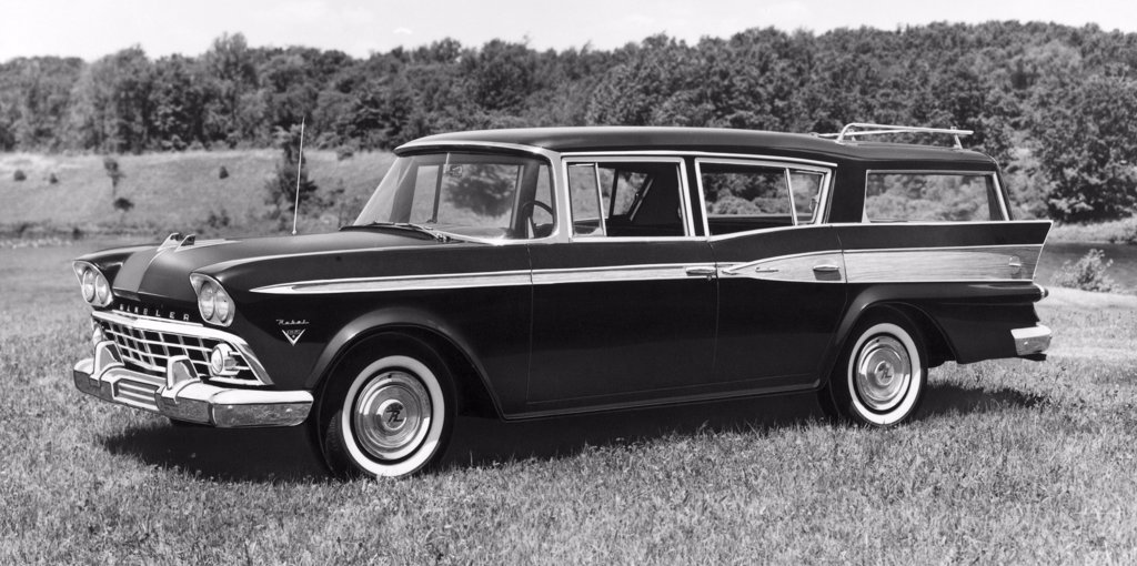 Stock Photo: 255-50162 1959 Rambler on grass