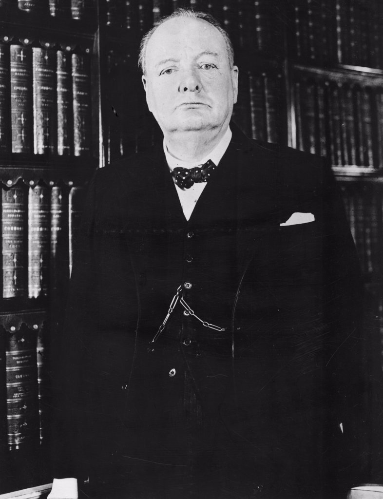 Stock Photo: 255-5473 Portrait of Winston Churchill, British Prime Minister, (1874-1965)