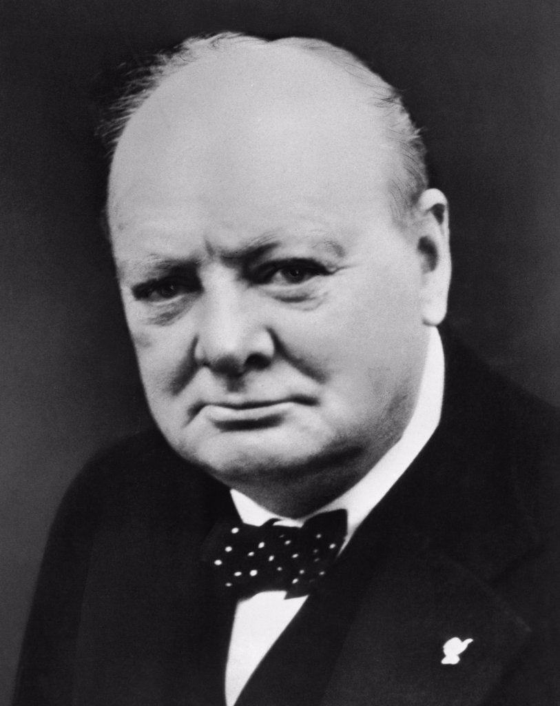 Stock Photo: 255-5474 Winston Churchill British Prime Minister (1874-1965)