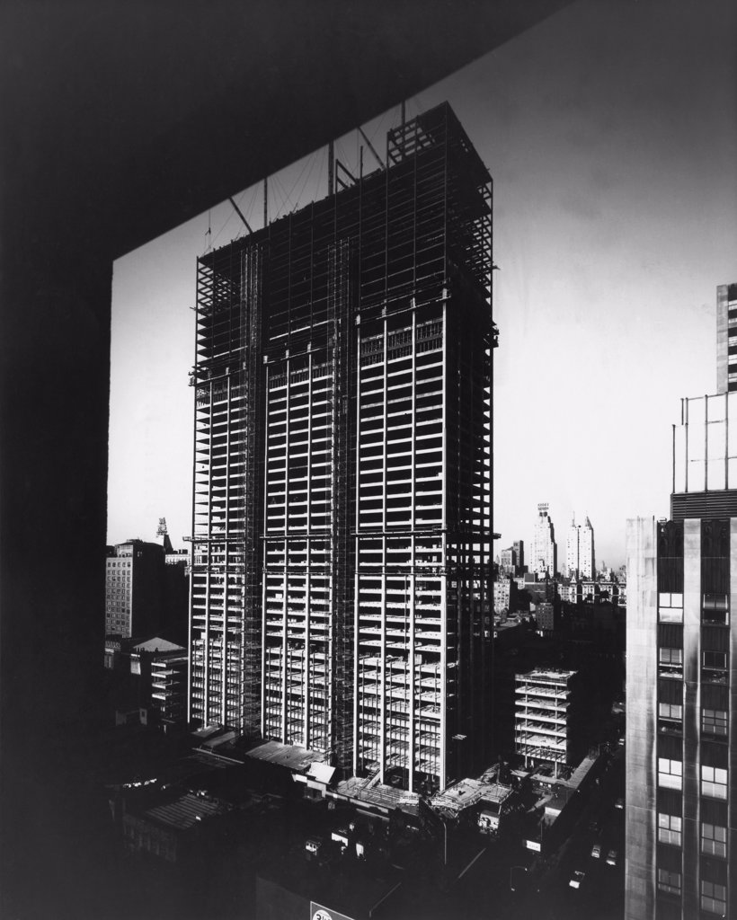 Stock Photo: 255-5896 Construction of the Time-Life Building, New York City, New York State, USA