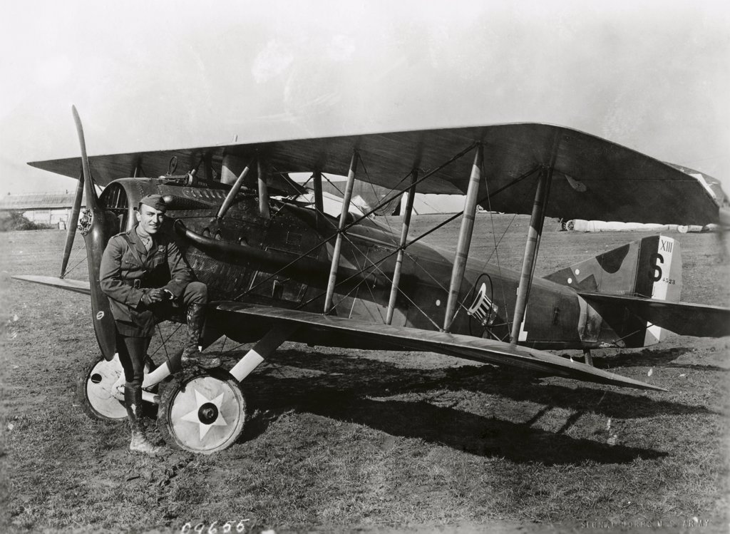 Eddie Rickenbacker, France, October 18, 1918, American Air Ace (1890-1973) : Stock Photo