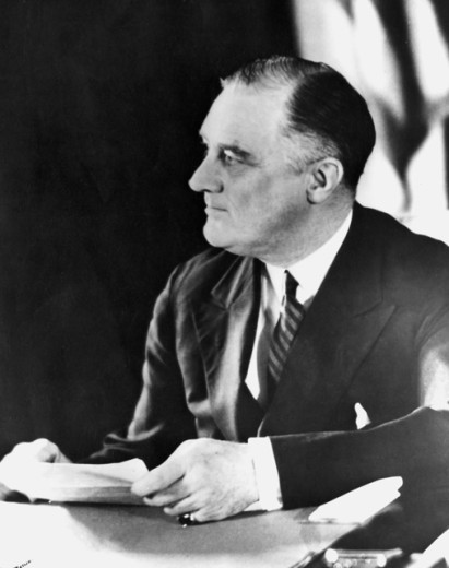 President Franklin D. Roosevelt, 1882-1945, 32nd President of the United States : Stock Photo