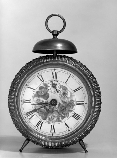 Stock Photo: 255-7695 Close up of vintage alarm clock