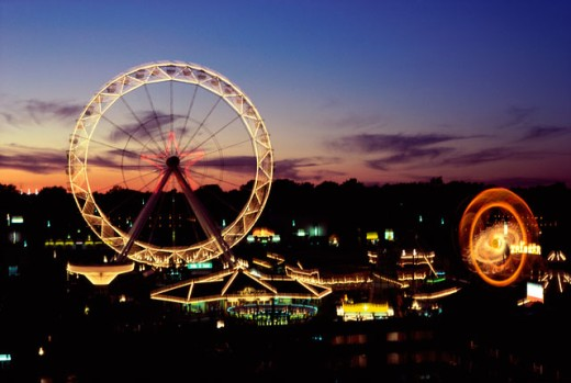Stock Photo: 2572-574692 An amusement park at Maple Leaf Village, Niagara Falls, Ontario, Canada
